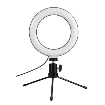 Aro de luz LED de mesa